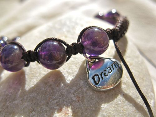 Dream Shambala amethyst bracelet - Amethyst and Shambala together with a Dreams charm make a truly meanginful piece of jewellery