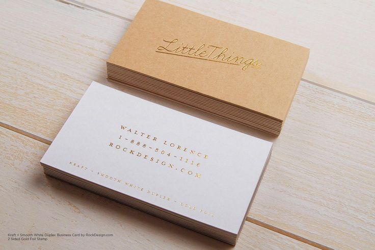 Foil stamp kraft white classic vintage visiting card design - Little Things