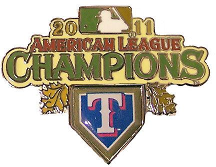 Texas Rangers 2011 American League Champions Pin