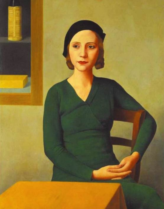 Antonio Donghi, Donna al caffè, 1932