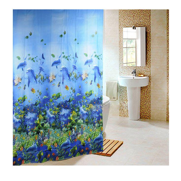 Cheap 180 x 180 cm Life Sea impermeable tela baño ducha cortina azul claro, Compro Calidad Cortinas de Ducha directamente de los surtidores de China:    Recomendar producto             RGB impermeable controlador remoto IR Module 12A para 5050 SMD LED luz de tira