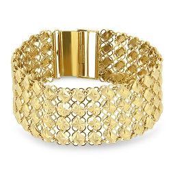 22ct Patterned Link Bracelet