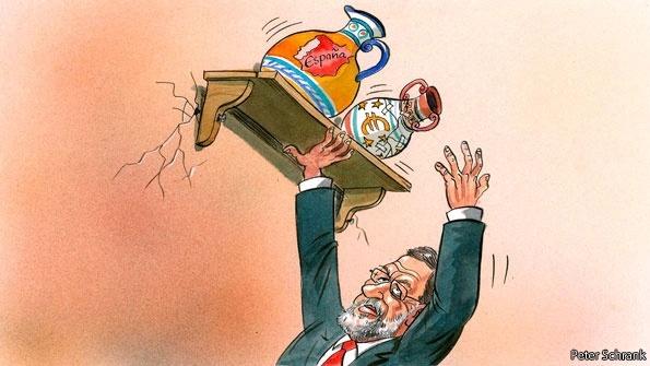Esta es la imagen que Rajoy da entre la Prensa Seria Mundial, en este caso, The Ecomist #fb