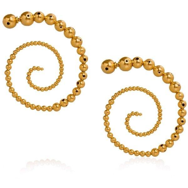 Paula Mendoza Jordan Earrings ($412) ❤ liked on Polyvore featuring jewelry, earrings, earring jewelry, paula mendoza, swirl earrings, paula mendoza jewelry and swirl jewelry
