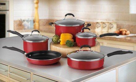Red Kitchen Cookware Set