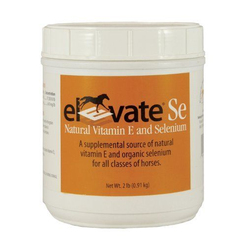 Elevate Se Vitamin E & Selenium Supplement, 2Lbs by Kentucky Performance Products. Save 34 Off!. $52.59. Supplemental source of natural vitamin e and organic selenium for all classes of horses. Feed 1 scoop per day mixed in the grain ration of horses if current ration is inadequate in vitamin e and selenium. 9-Alpha Tocopherol Acetate (Natural Vitamin E), Selenium Yeast And Dextrose.