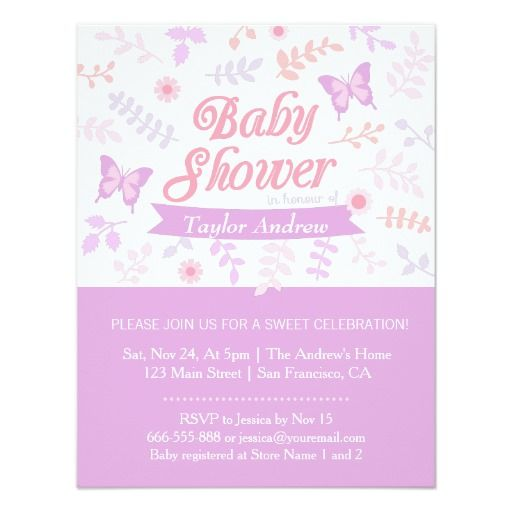 312 best images about butterfly baby shower invitations on, Baby shower invitations