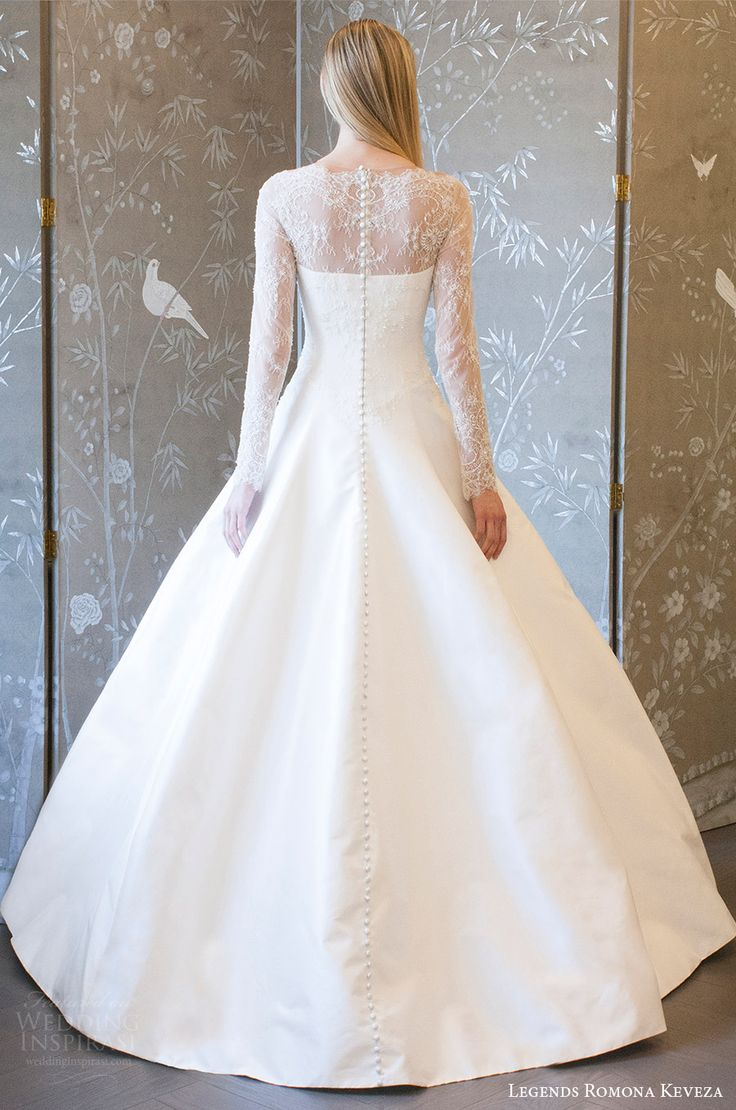 legends romona keveza spring 2018 bridal illusion long sleeves sheer neck sweetheart a line ball gown wedding dress (l8133) bv romantic elegant -- Legends Romona Keveza Spring 2018 Wedding Dresses