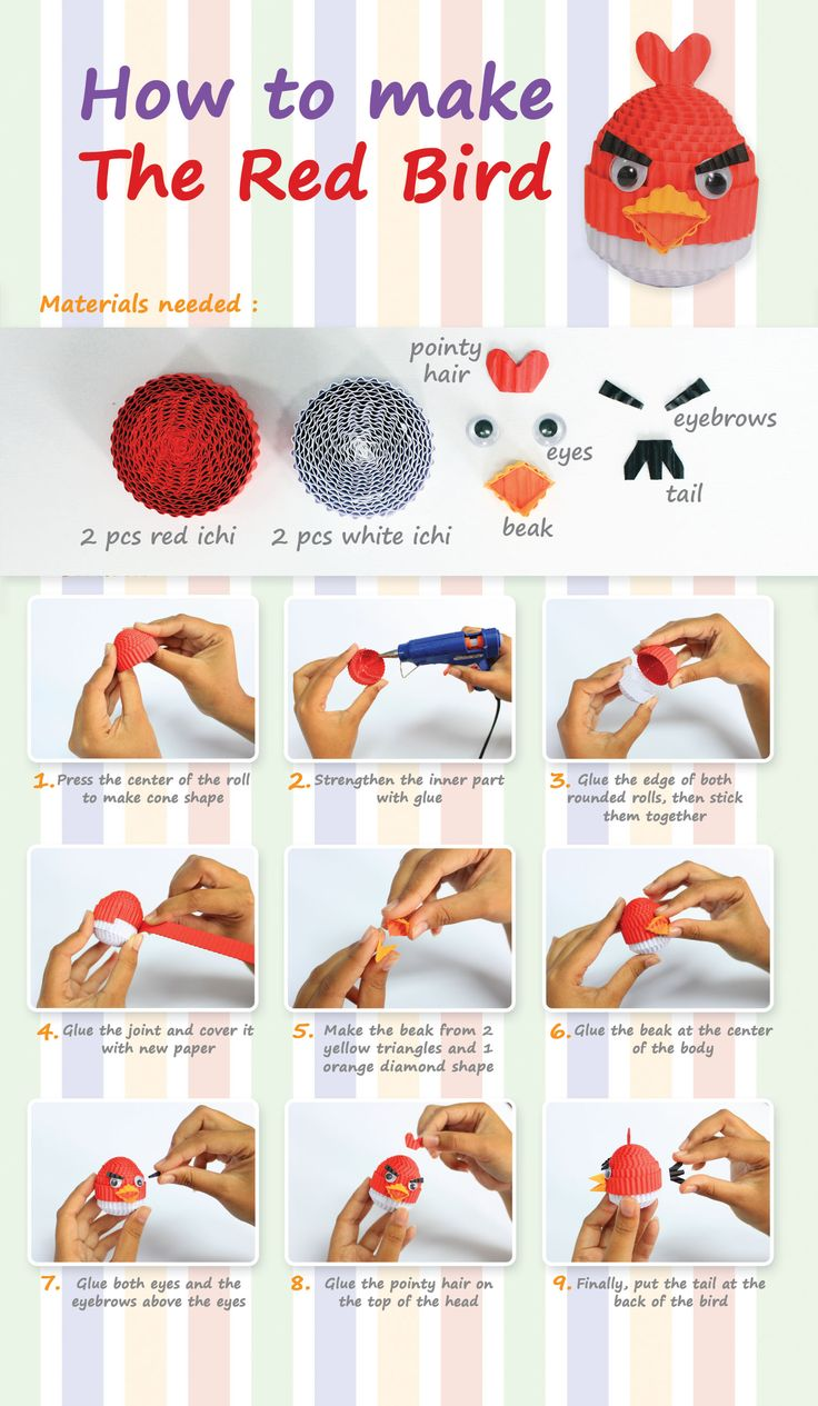 how to make the red bird #kokoru