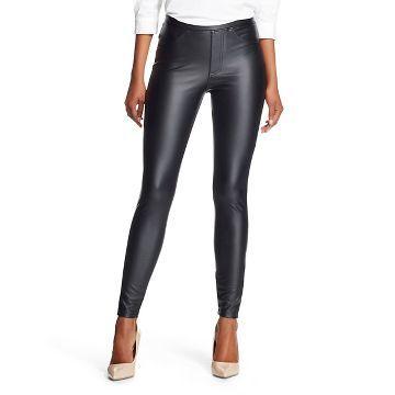 Women's Jeggings Faux Leather Black - Xhilaration™