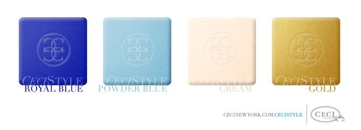 CeciStyle V39: Blue and Cream Wedding Colors