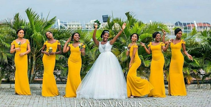 mustard-yellow-bridesmaids-dresses