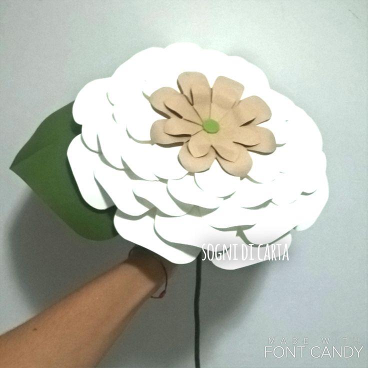 Paper big flower