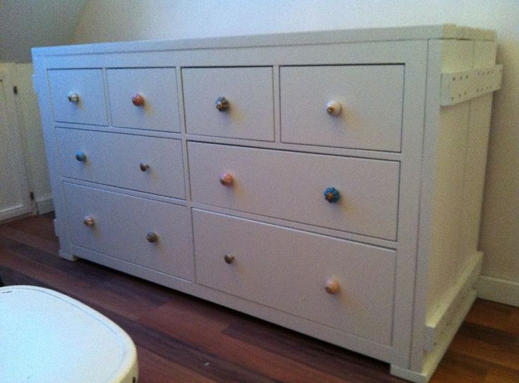 Hemnes kast van ikea omgebouwd tot commode de ombouw is for Ikea commode pin