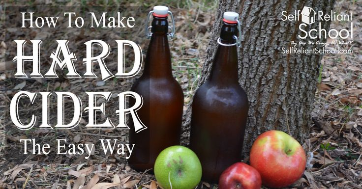 Step by step instructions on how to make hard cider at home with just a few simple ingredients and tools.