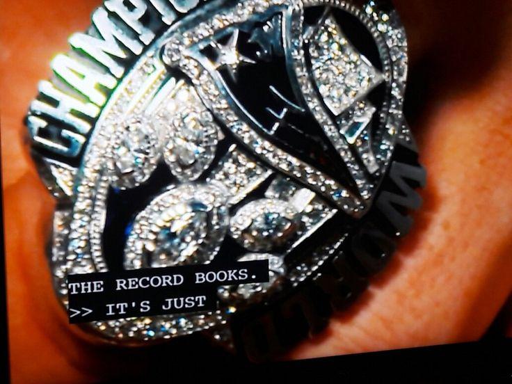 NE PATRIOTS Superbowl ring has 283 diamonds on each one!