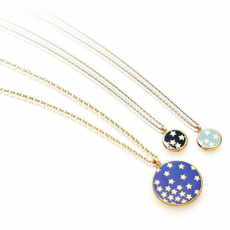 Buy Star Shower Pendant in Blue Enamel from Astley Clarke Colour