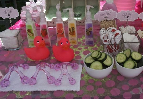 spa party ideas for girls birthday   Mummy's Little Dreams: Princess Day Spa Party