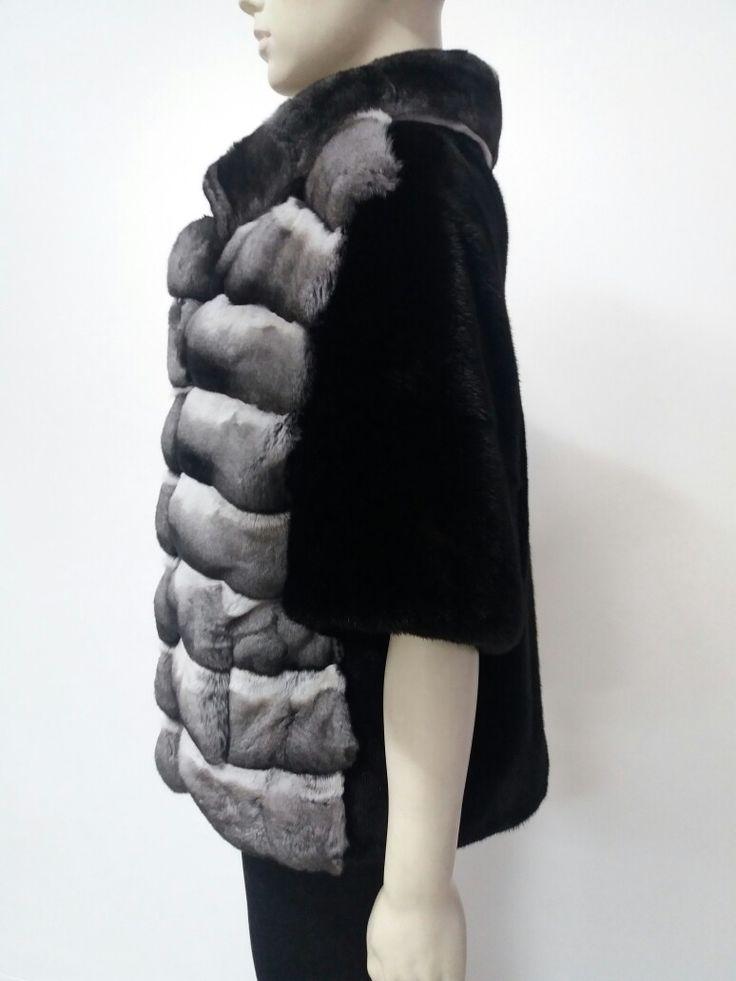 Chinchilla with blackglama mink fur jacket