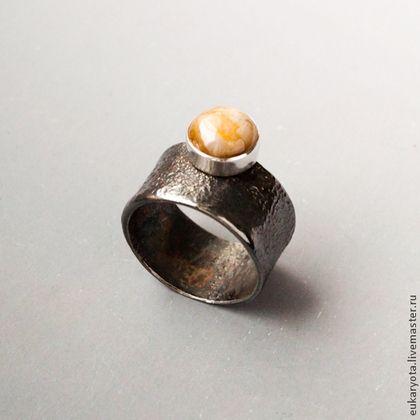 Кольца ручной работы. Ярмарка Мастеров - ручная работа Кольцо из серебра с желтым сапфиром Юпитер. Handmade.