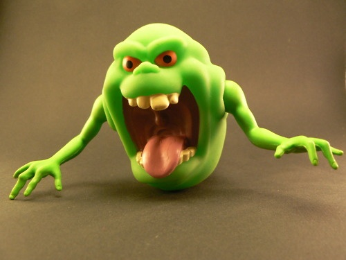 Ghostbusters Slimer toy...also came with a pot of slime! Yaas!