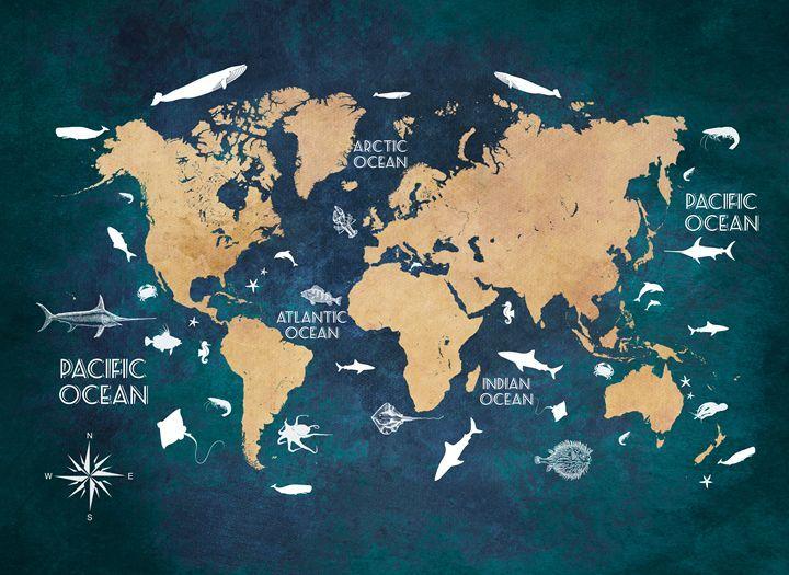 World map blue - JBJart   fondos en 2019   Fondo de ...