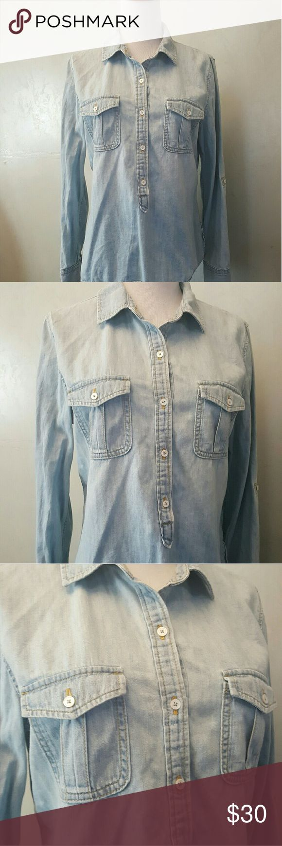Talbots light denim shirt Talbots light denim button down shirt. In perfect condition Talbots Tops Button Down Shirts