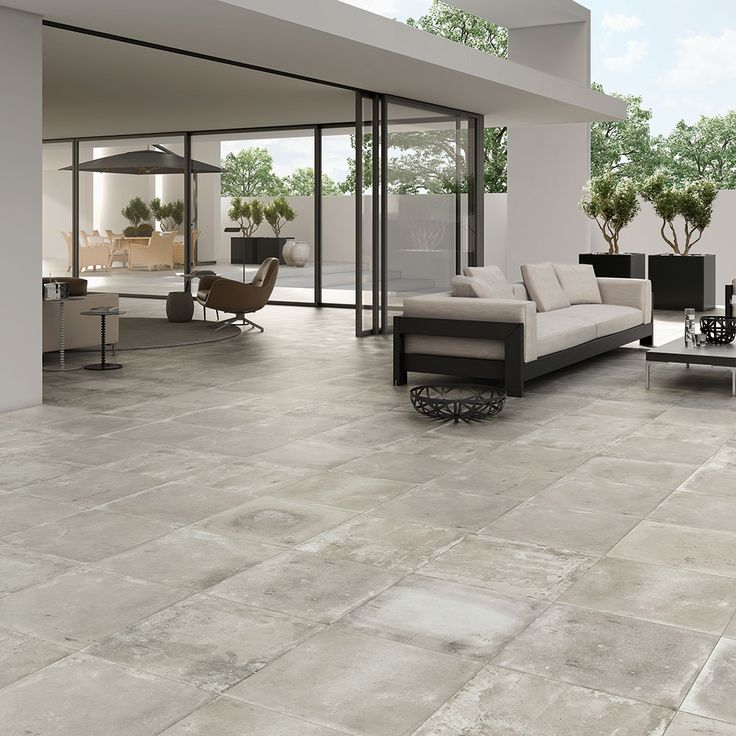 For an industrial patio space in a garden  use anti slip concrete effect  tiles for17 best Exterior Porcel Thin Tiles images on Pinterest   Porcelain  . Porcelain Floor Tiles For Outdoor Use. Home Design Ideas