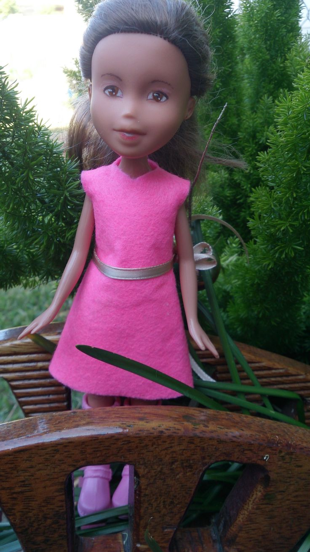 Kislany Rescue Dolls ooak Bratz upcycled made-under repaint handmade shift dress