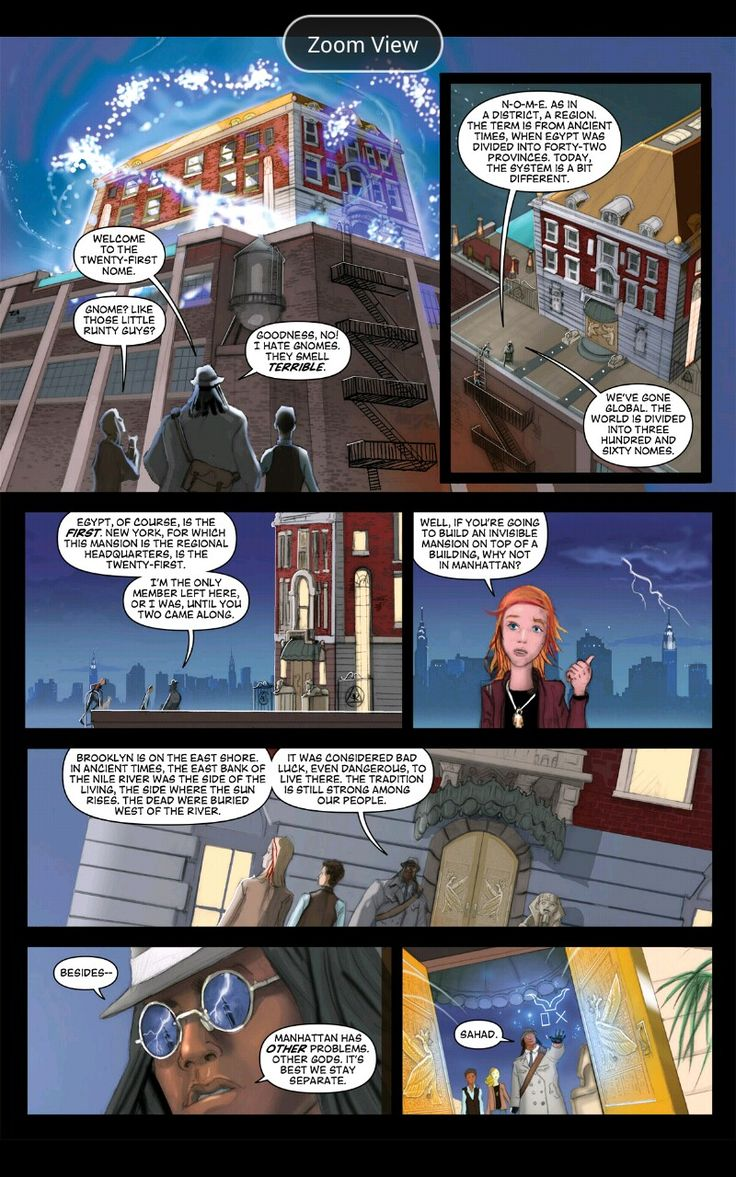 The Red Pyramid Graphic Novel. Amos hinting about the Greek Gods