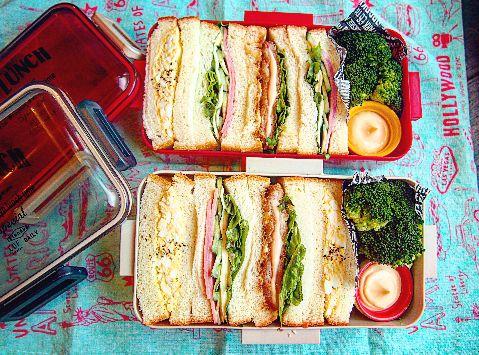 新しいお弁当箱でサンドイッチ(´艸`)このお弁当箱はあまり高さがないから3等分したものを入れてます~(*^^*) 初心者でも簡単無料!ブログを作るなら CROOZ blog