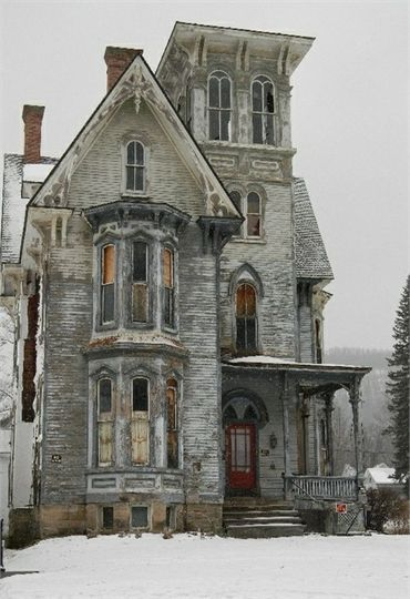 70 Abandoned Old Buildings.. left alone to die, So sad that beautiful homes like this are left to rot ◉ pinned by http://www.waterfront-properties.com