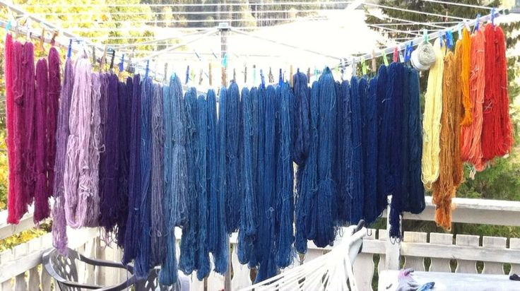 Hand spun yarn, natural dye.   Feel free to share, but please keep my name with the photo. Unna Hallgren, Norway