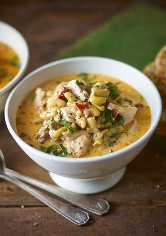 This spicy chicken soup is cheap, tasty and quick to prepare using items from your larder.