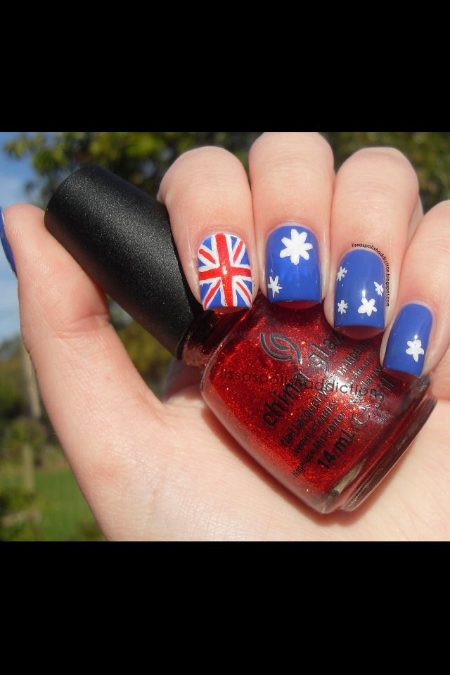 Australian flag nails, a MUST for Australia Day!!