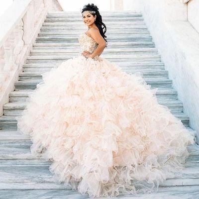 2016 custom light pink quinceanera dress, beading sweetheart ball gown