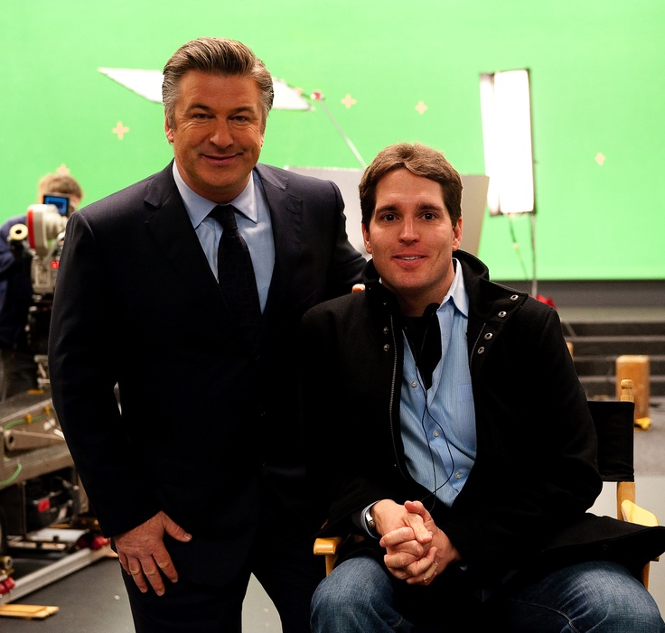 Hulu's first commercial featured Alec Baldwin (pictured here with CEO, Jason Kilar) and premiered during the 2009 Super Bowl.