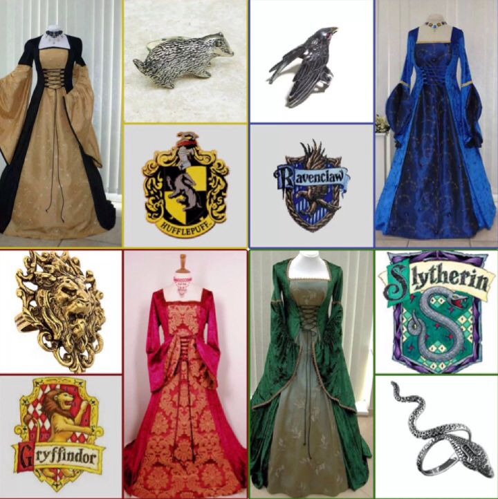 Dresses And Rings For Each House Harry Potter Pinterest