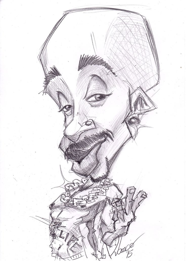 Tupac - caricature sketch by Ribosio #thuglife