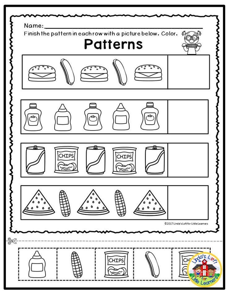 Summer Math Printables for Preschool | Math printables ...