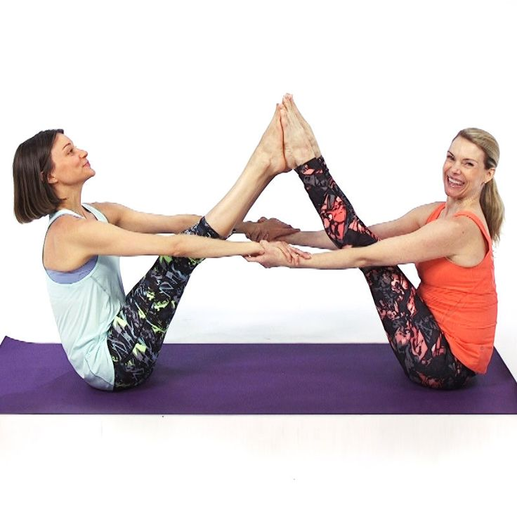 In this video, Health contributing expert Kristin McGee shows us 10 yoga poses that you can do with a buddy to help you increase your flexibility in a pose or help stabilize your balance. | Health.com
