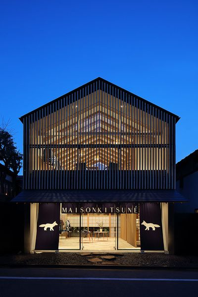 メゾンキツネ新店舗は「ホテルオークラ東京へのオマージュ」 代官山に和の新拠点   Fashionsnap.com