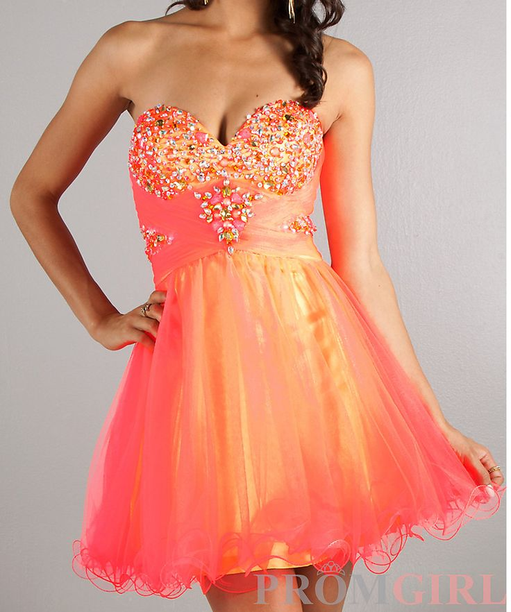 SHORT NEON PROM DRESS on Chiq  $210.00 http://www.chiq.com/short-neon-prom-dress-0