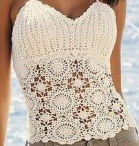 Ivelise Handmade: Beautiful Blouses Cardigans in Crochet