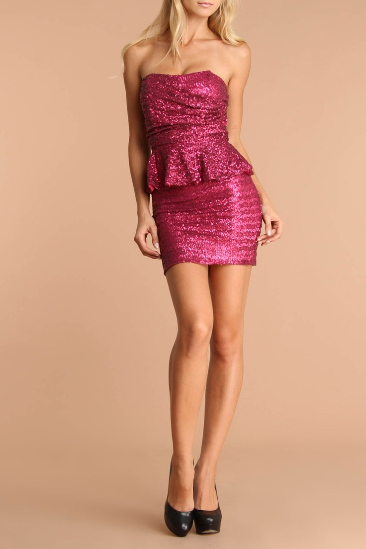 Sequin Dress In Pink - Beyond the Rack