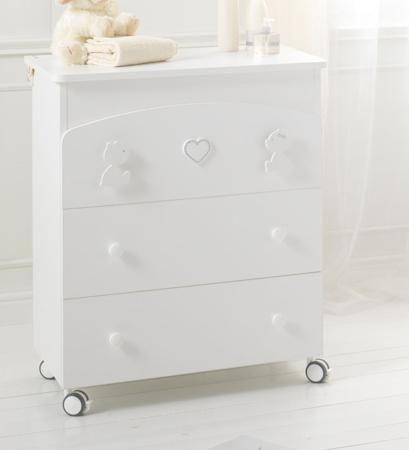 Baby Expert Пеленальный комод Primo Amore белый  — 47900р. ----- Пеленальный комод Primo Amore белый