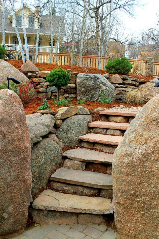 1000 images about retaining walls on pinterest boulder for Landscaping rocks melbourne