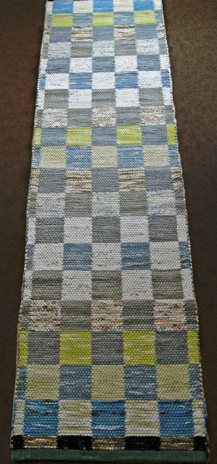 """rag rug; """"rimfrost"""". Sold at exhibition in Uddevalla, Sweden"""