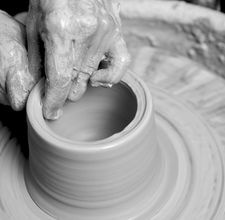 I would give just about anything right now to be throwing pottery on a wheel...elbow high in clay...