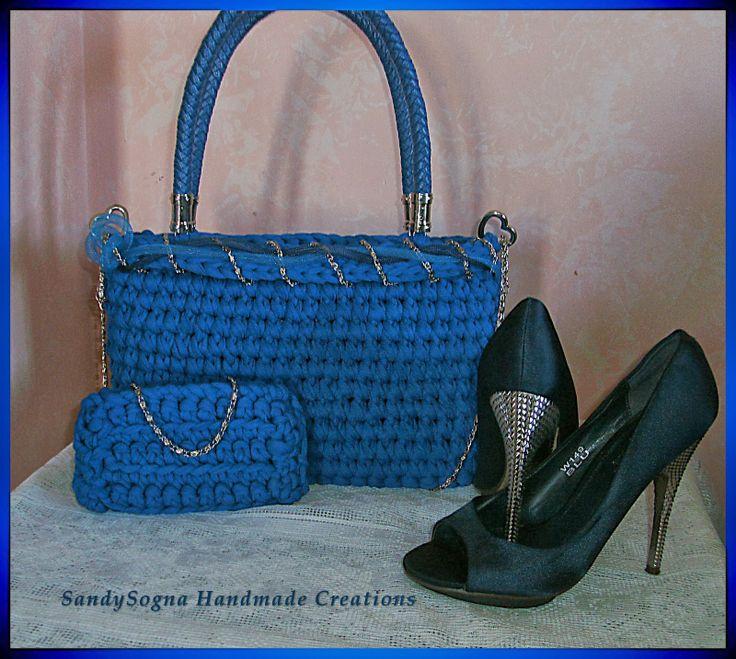 Cielo Blu, nuova borsa in fettuccia